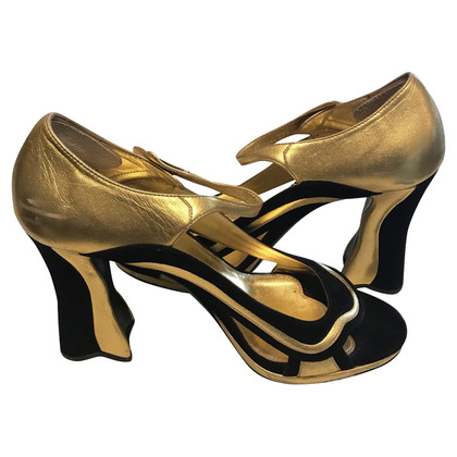 Prada Prada gold and black sandal