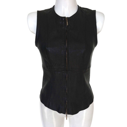Plein Sud Leather top in black
