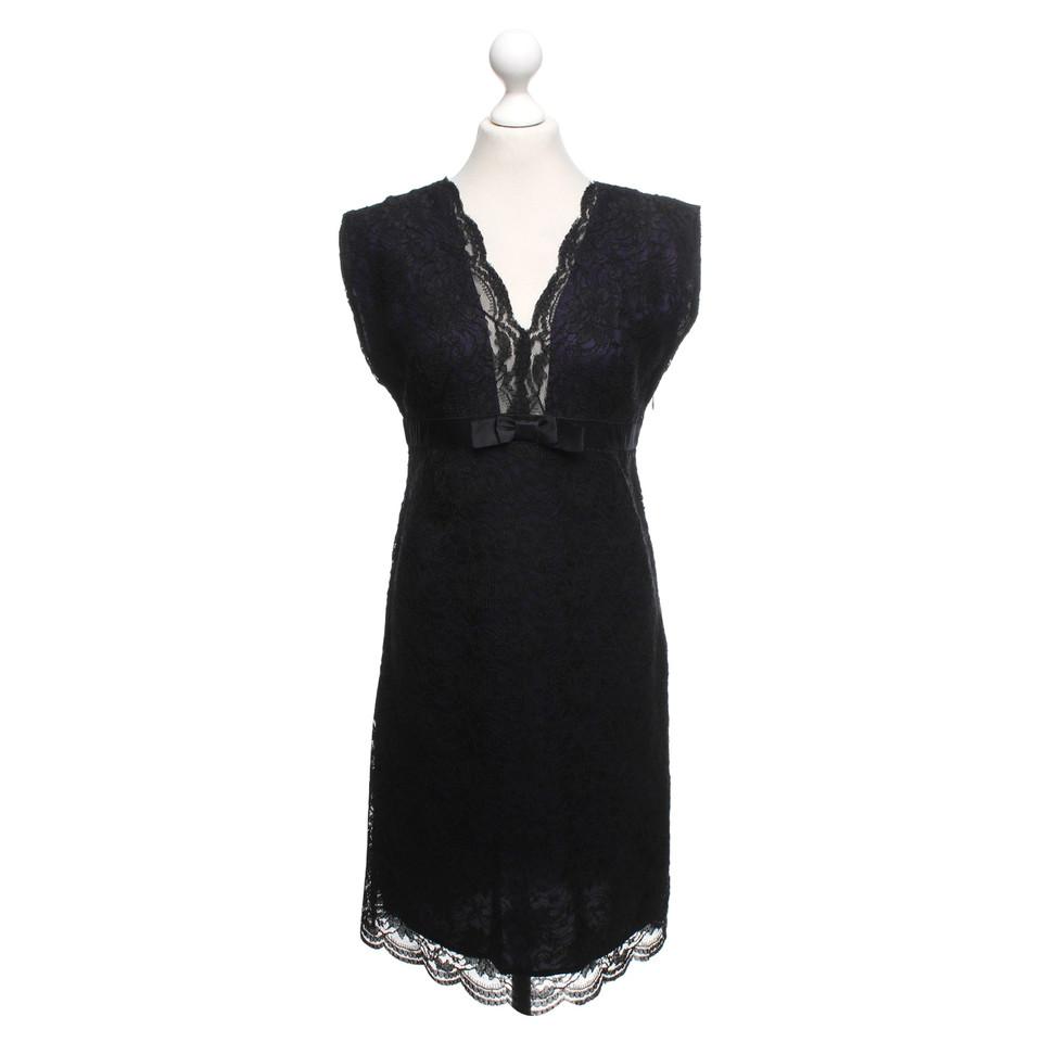 Reiss robe de dentelle en noir