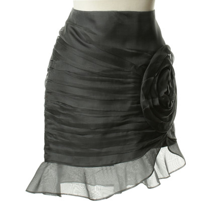 Armani Collezioni Silk skirt with flowers application