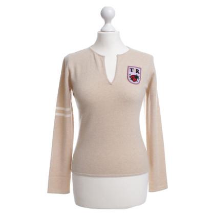 Talbot Runhof Fine knit sweater coat of arms