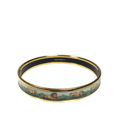 Hermès Gold-plated Bangle enamel