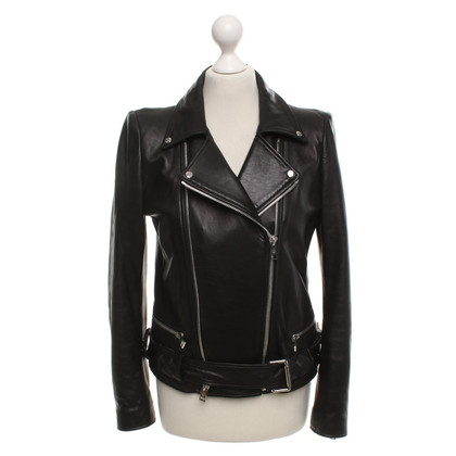 MCM Leather jacket in black