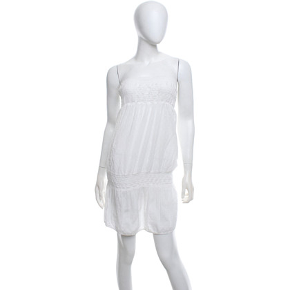 Closed Bandeau-jurk in het wit