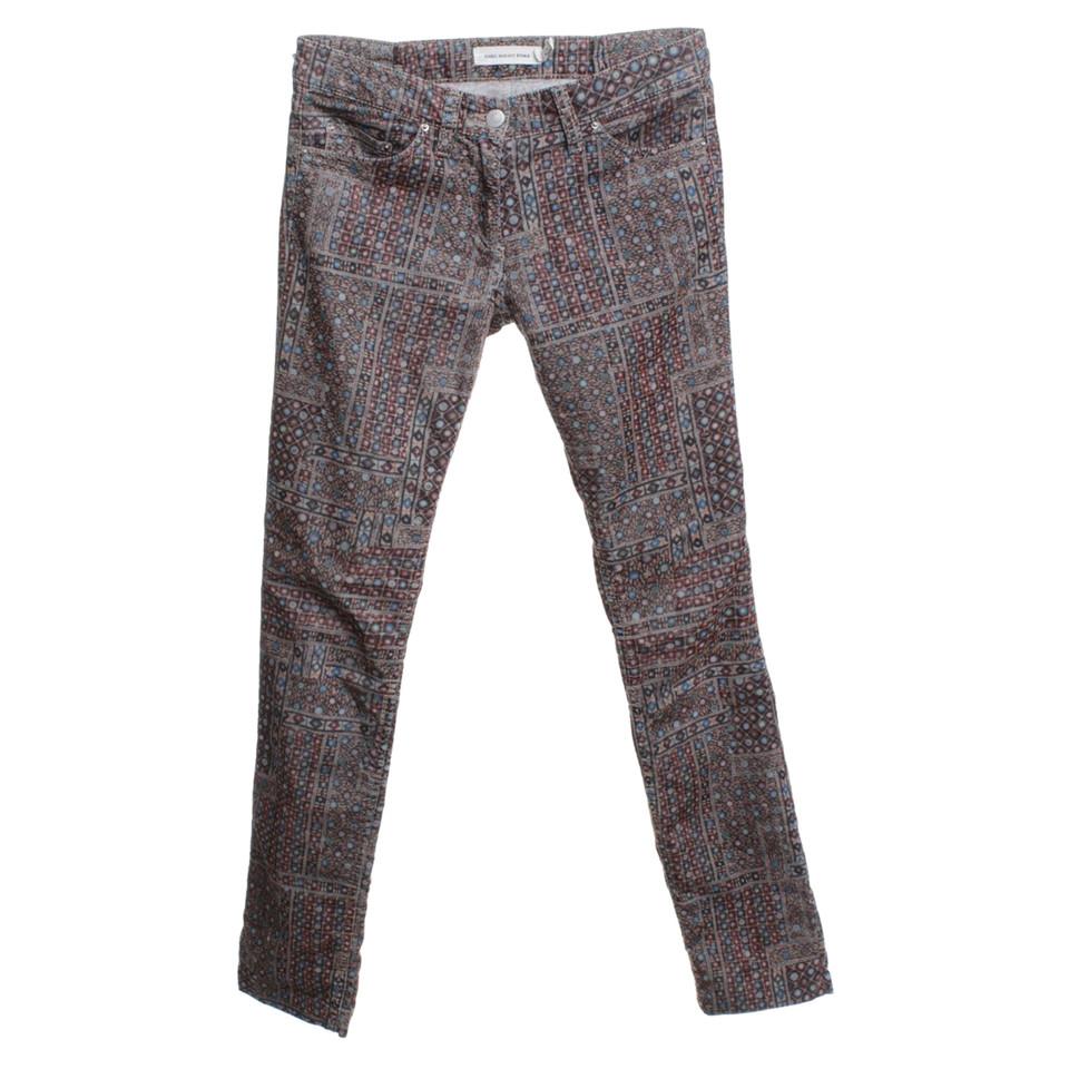 Isabel Marant Etoile pantaloni di velluto con stampa