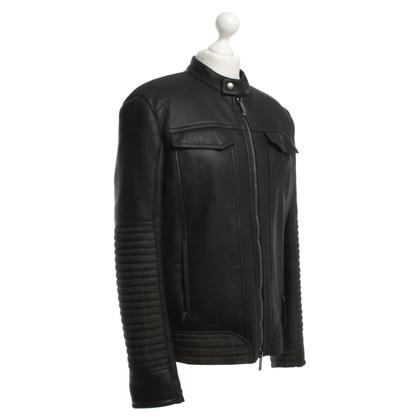 Etro Lamsleren jasje in zwart