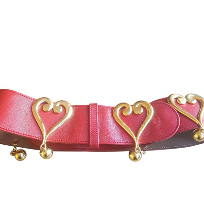 Moschino Love Ceintures en rouge