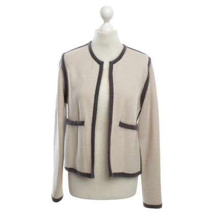 René Lezard Cardigan in Beige / grey