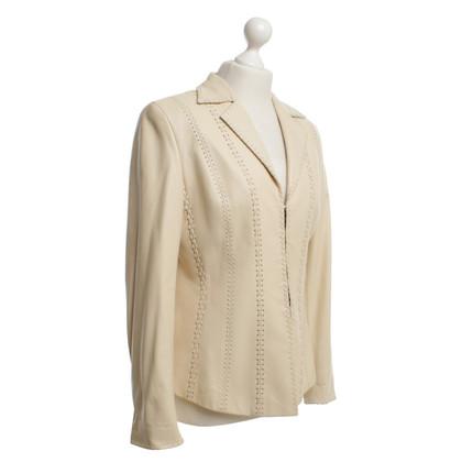 Escada Leather jacket in beige
