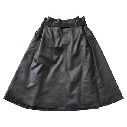 By Malene Birger Leather skirt in black