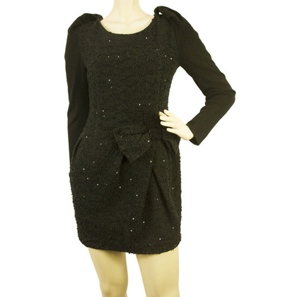 Alexander McQueen Sequined Long Sleeve Mini Dress