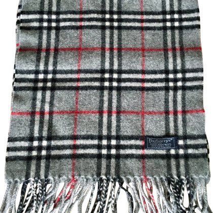 Burberry wool scarf in grey
