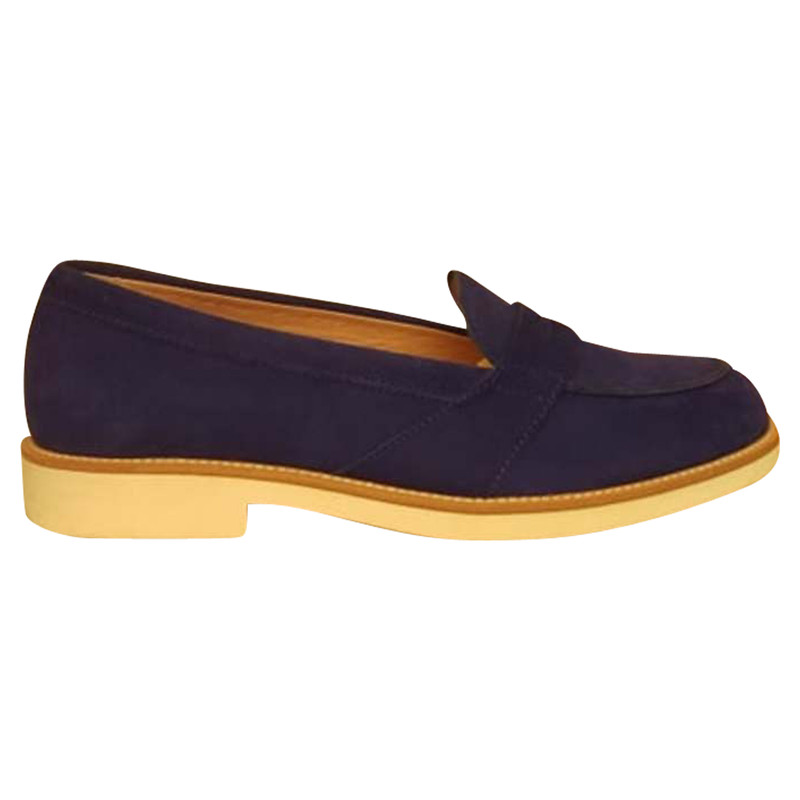 Tod's SlipperBallerinas aus Leder in Blau Second Hand