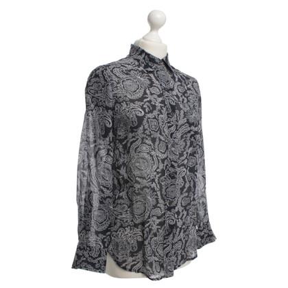 Theory Zijden blouse met patroon