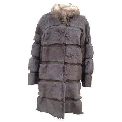 Dorothee Schumacher Goat fur coat with Possum collar