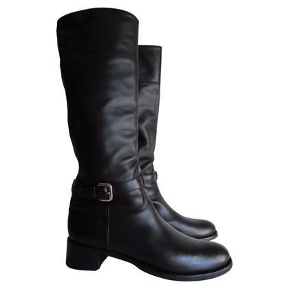 Prada Schwarze Stiefel
