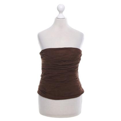 Ralph Lauren top a fascia in pelle in marrone