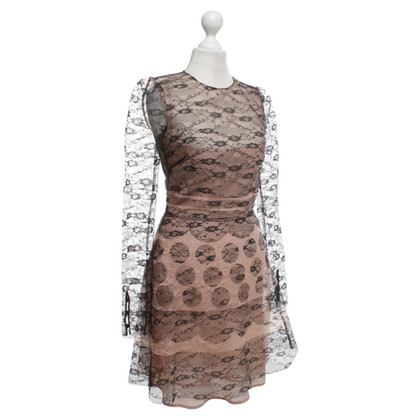 Red Valentino Lace dress in black / rosé