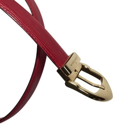 Louis Vuitton Red leather belt