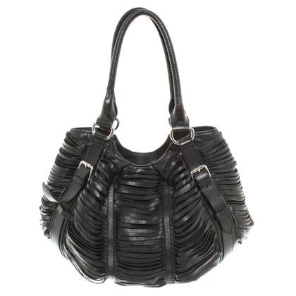 Kaviar Gauche Handtasche aus schwarzem Leder