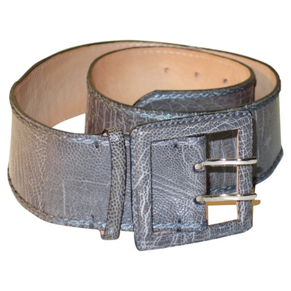Reptile's House Leather belt made of ostrich leather