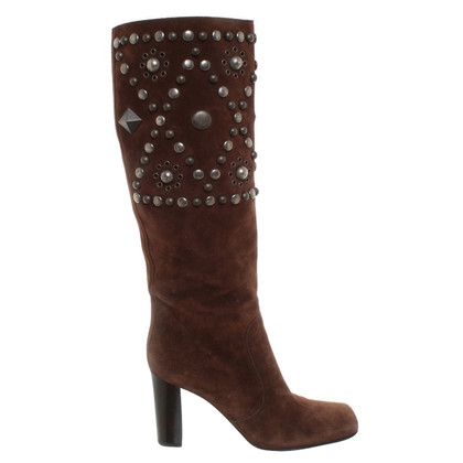 Dolce & Gabbana Wild leather boots in brown