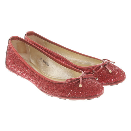 Jimmy Choo Ballerinas in red