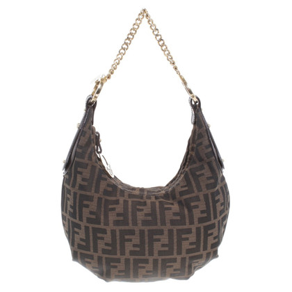 Fendi Hobo bag with Zucca pattern