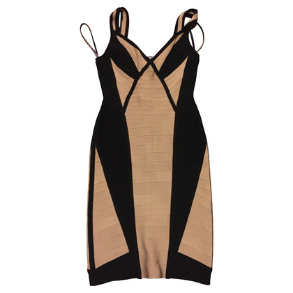 Herve Leger Herve Leger, black beige evening gown, gr. S, unworn