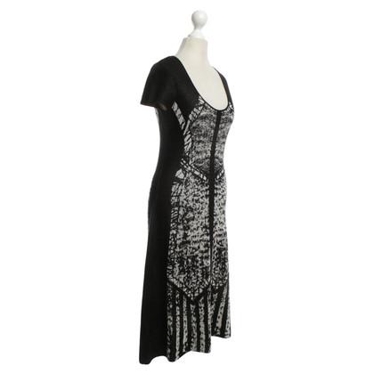 BCBG Max Azria Gebreide jurk zwart / White