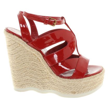 Saint Laurent Wedges in Rot