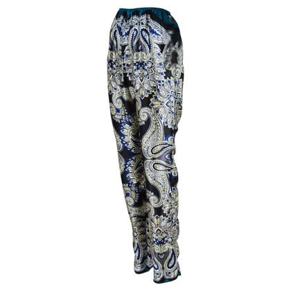 Lanvin pantaloni di seta con stampa paisley