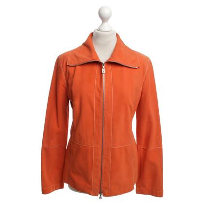Bogner Veste en cuir orange
