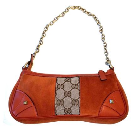 Gucci Orange suede mini-bag