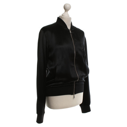 Dolce & Gabbana Satin blouson in black