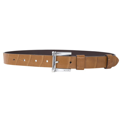 Jil Sander Crocodile leather belt with sterling silver buckle
