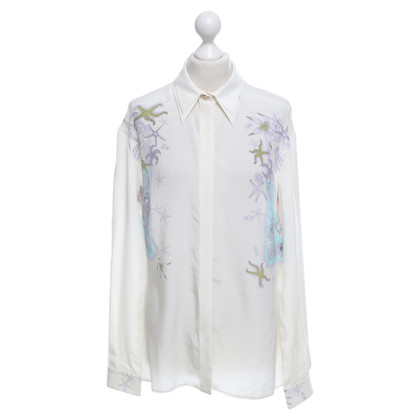 Versace blouse en soie avec imprimé