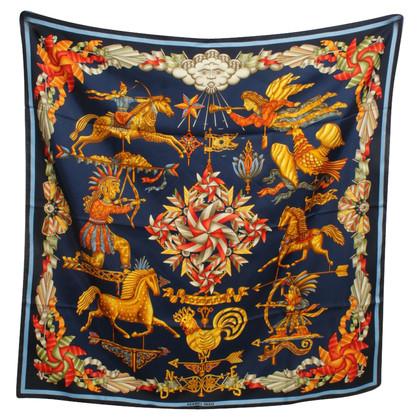 Hermès silk carré scarf ,, Les Girouettes ''