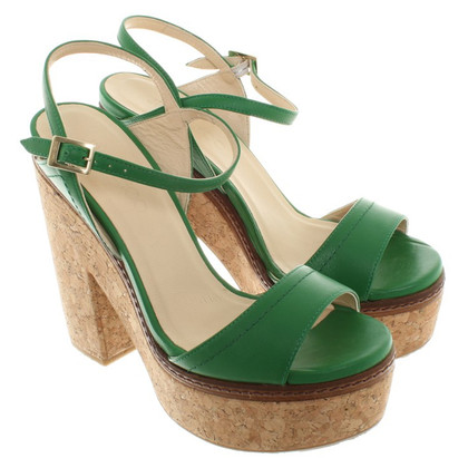 Jimmy Choo Sandali in verde