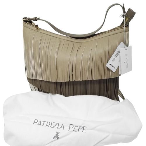 Patrizia Pepe Handtasche mit Fransen Ocker