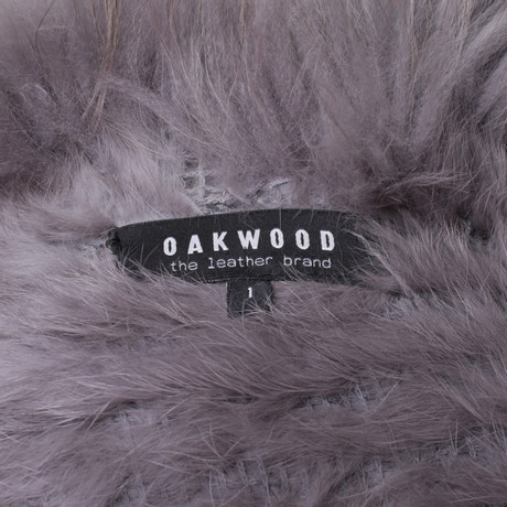mit Weste Oakwood Besatz Grau mit Pelz Pelz Oakwood Oakwood Besatz Grau Weste BX17wx