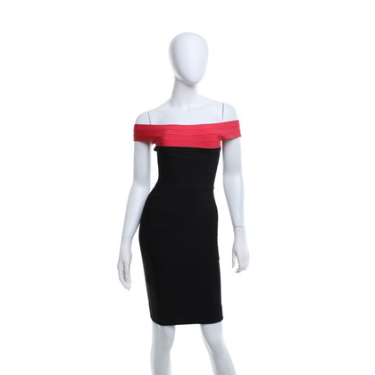 Hervé Léger Dress in black / red