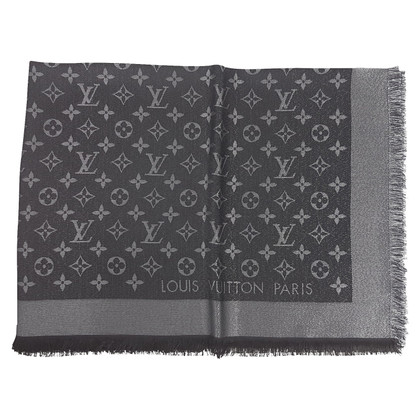 Louis Vuitton Monogram glansdoek in zwart / Zilver