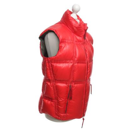 Jet Set veste vers le bas en rouge