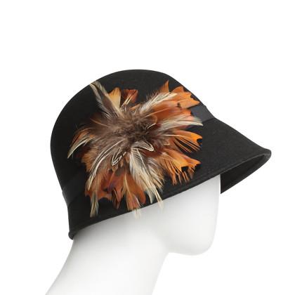 Badgley Mischka Cappello con piume