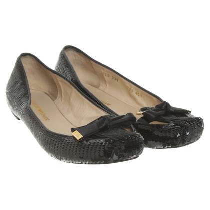 Armani Ballerinas in black