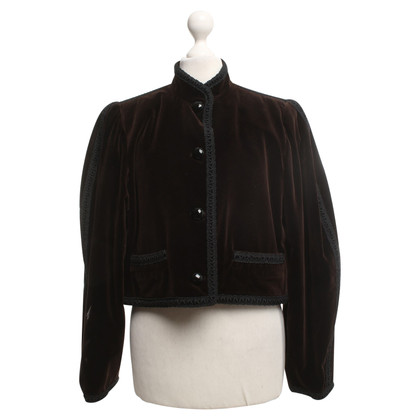 Saint Laurent Velvet blazer in bruin