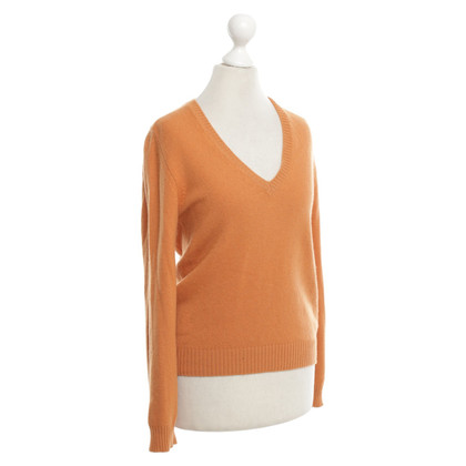 Malo Knitted sweater in orange