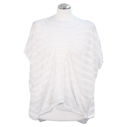 Reiss Transparentes Oberteil in Weiß
