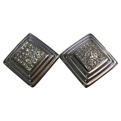 Christian Dior Vintage ear clips with rhinestones